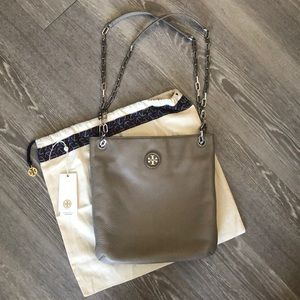 Tory Burch Whipstitch Logo Swingpack